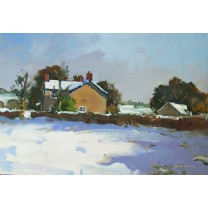 Cottage in Snow, Margam by Gareth Thomas