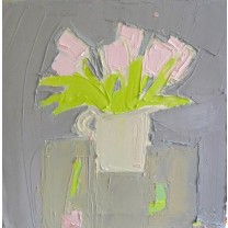 Tulips on Pale Grey