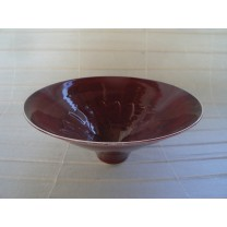 Copper Red Carved Bowl by Bridget Drakeford