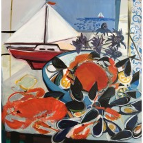 Crab, Lobster and Little Sailing Boat