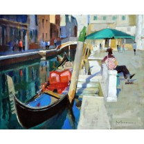 Gondoliers in the Shade by Jack Morrocco